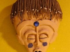 2024- Máscara con abalorios