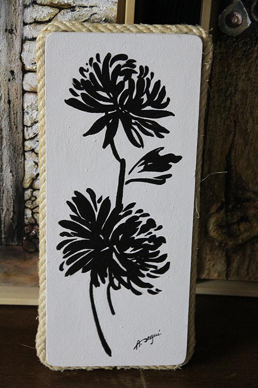 120-Flores negras