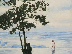 110-Niña en la playa
